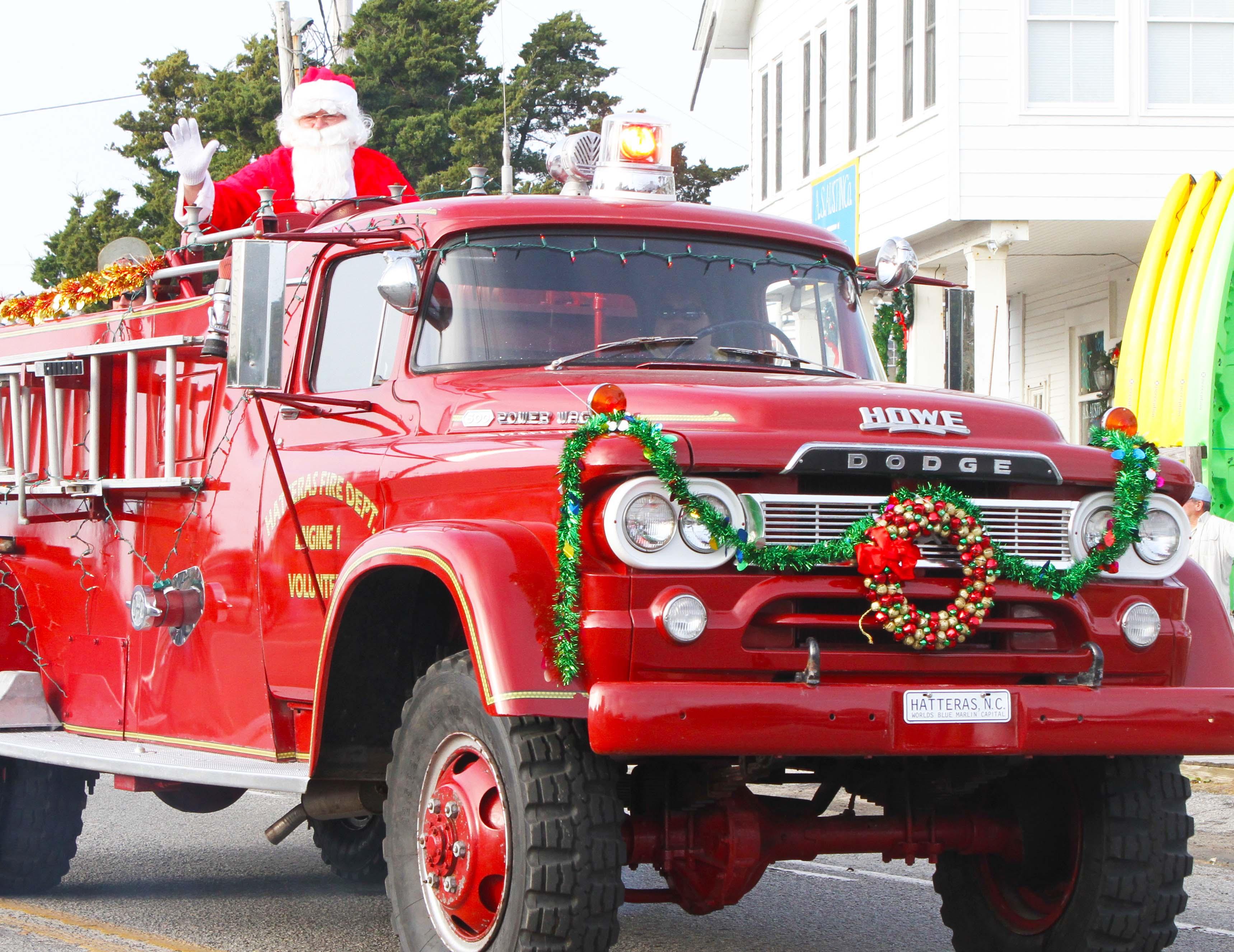 Santa Claus at the Hatteras Village Christmas Parade
